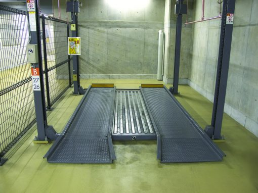 Slideway for automatic parking garages