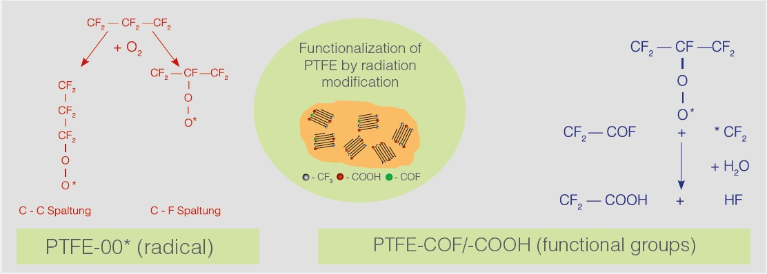 perf functionalization of PTFE