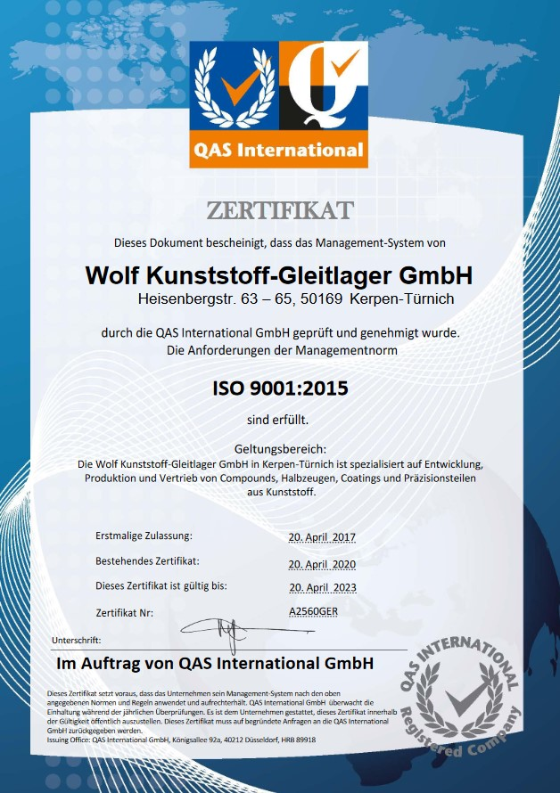 Wolf ISO9001:2015